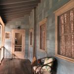realistic porch with patterned paint surface